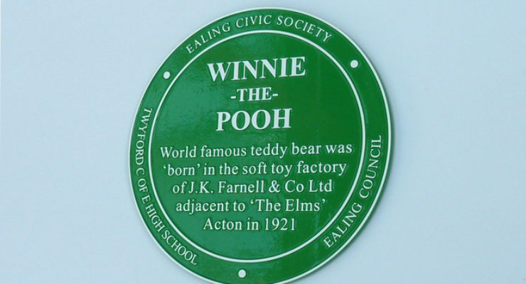 Ealing Council - Ealing Civic Society - Plaque for Winnie the Pooh