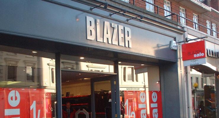Shop Front Fascia Sign - Blazer Retail