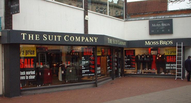 Shop Fascia - The Suit Company Sign