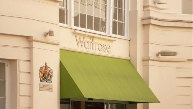 Royal Warrant Coat of Arms and Shop Signage for Waitrose