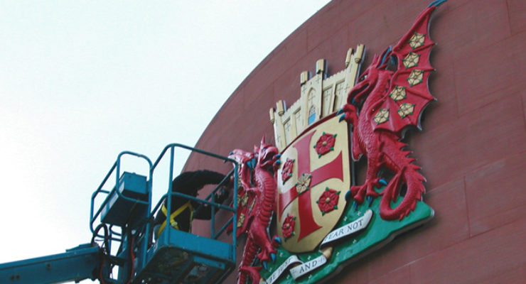 Installation of the Coat of Arms at Carlyle