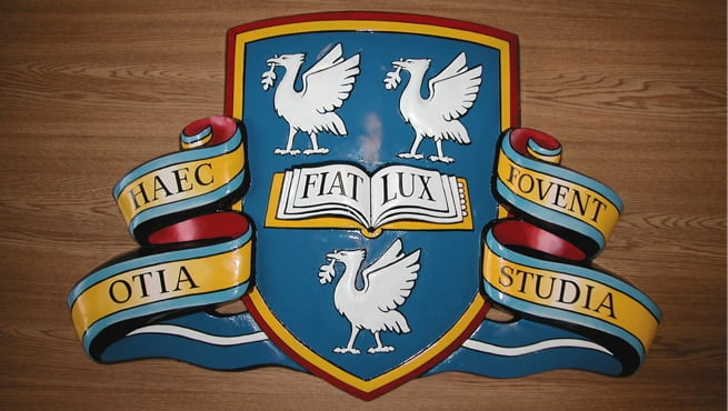 University Coat of Arms - Haec Otia Fovent Studia - Fiat Lux