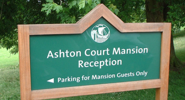 Bristol City Council - Ashton Court Wooden Post Mounted Sign