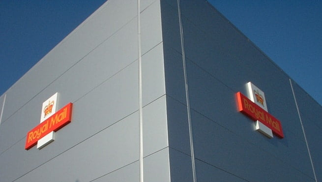 Cruciform Signage for Royal Mail