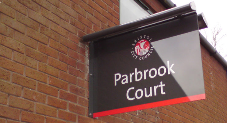 Bristol City Council - Parbrook Court Illuminated Projecting Sign