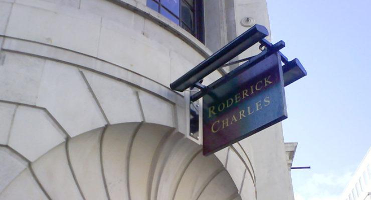 Roderick Charles, Illuminated Projecting Shop Sign