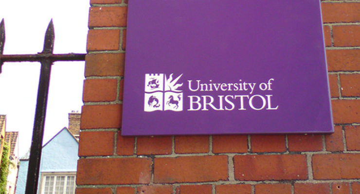 University of Bristol Purple Tray Sign, Screen Printed as standard for Anti Graffiti