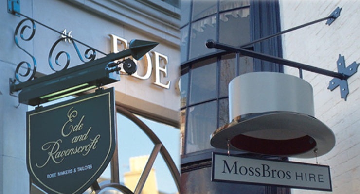 Various Customised Projecting Signs for Retail Outlets