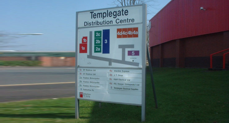 External Directory with Map for Templegate Distribution Centre, Bristol