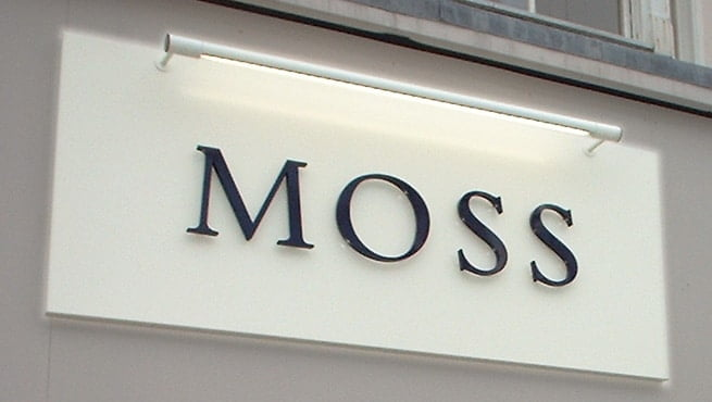 Illuminated Built up Letters - Moss Bros