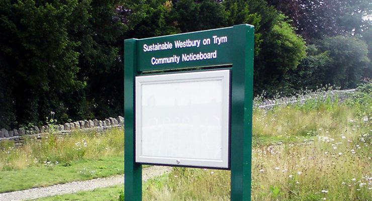 Lockable Park Cabinet - Westbury-on-Trym Community Noticeboard