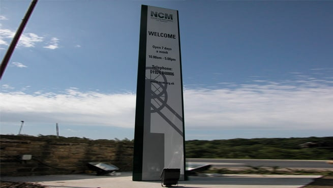 Massive Monolith Sign for the National Coal Mining Museum, Wales