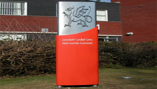 Welsh Assembly Government Signage, Red Dragon, Throughout Wales