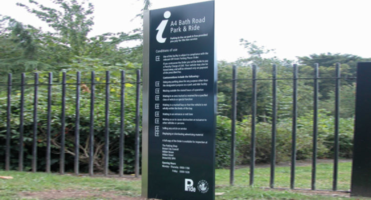 Bristol Park & Ride Monolith Signage