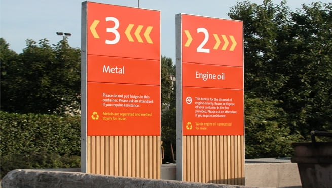 Wooden and Aluminium Monolith Signage for Bristol City Council