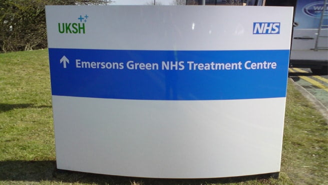 Curved Face Aluminium Monolith Signage - Emersons Green, Bristol