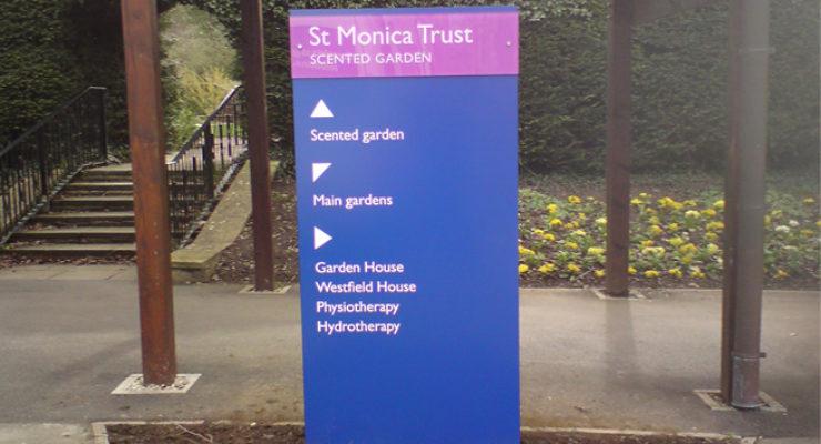 St Monica Trust - Redland, Bristol. Aluminium and Acrylic Signage