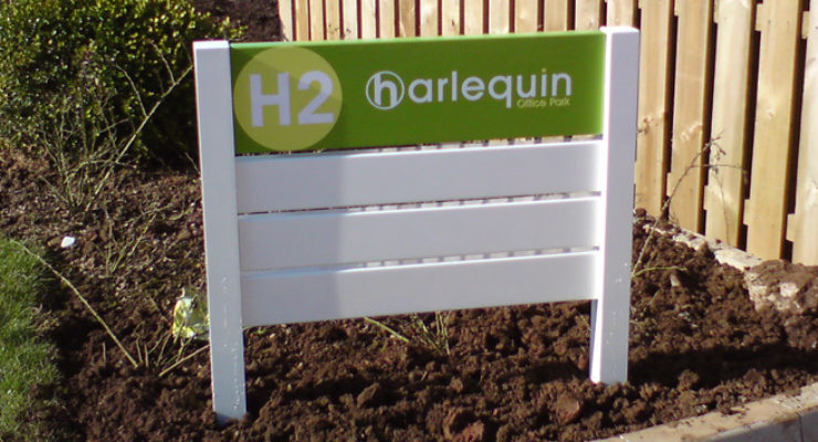 Harleguin Post Mounted Wayfinding Directory Sign