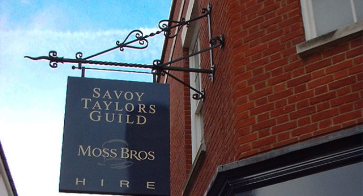 Savoy Taylors Guild (Moss Bros) Projecting Custom Iron Sign