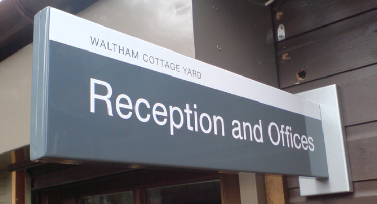 University of Bristol UoB Waltham Cottage Yard Long Projecting Sign