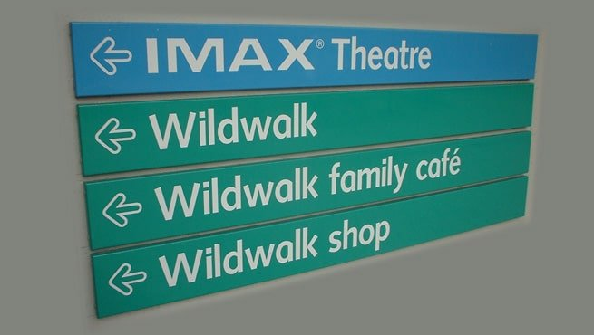 IMAX Theatre, Bristol. Directory of Wayfinding Signs