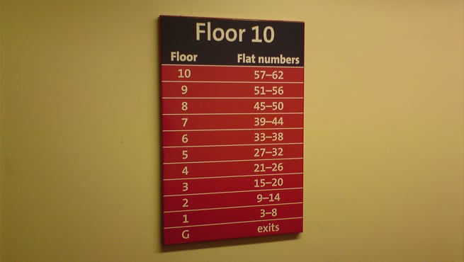 Internal Directory of Floor Numbers, Bristol City Council