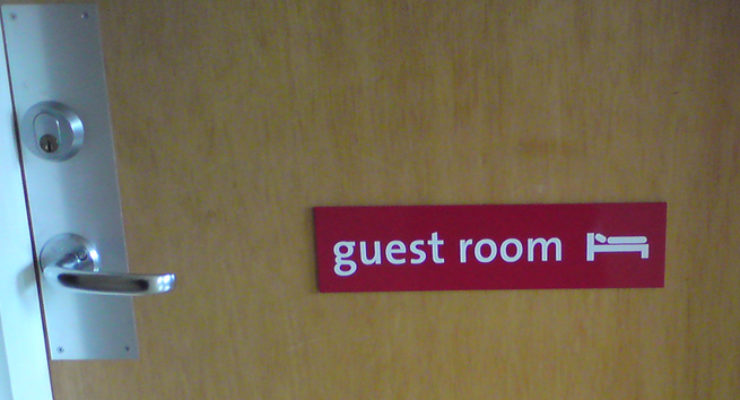 Guest Room - Aluminium Door Sign