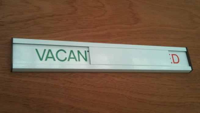 Engaged / Vacant Door Signage