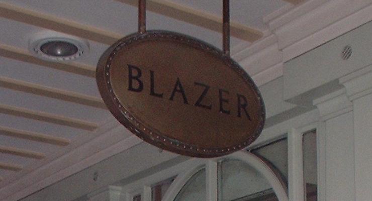 Blazer - Suspended Bespoke Shop Signage