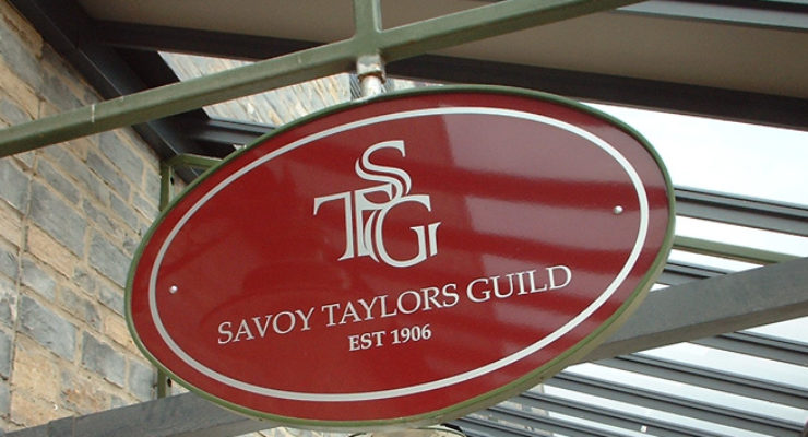 Savoy Taylors Guild - Suspended Oval Sign