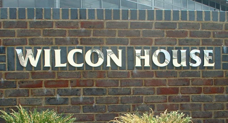 Mirror Finish, Built Up Stainless Steel Letters - Wilcon House