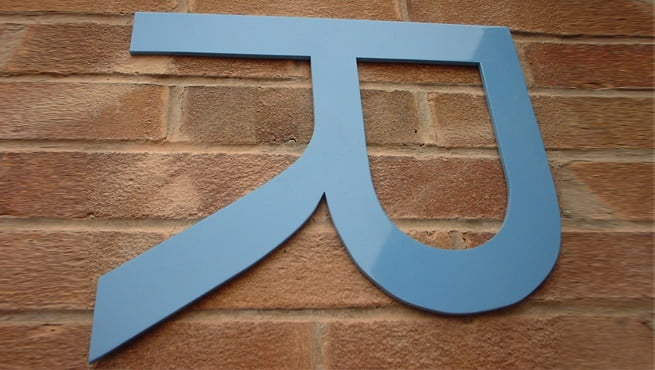 Cut Out Perspex Letter R - Installed Flat onto Brickwork