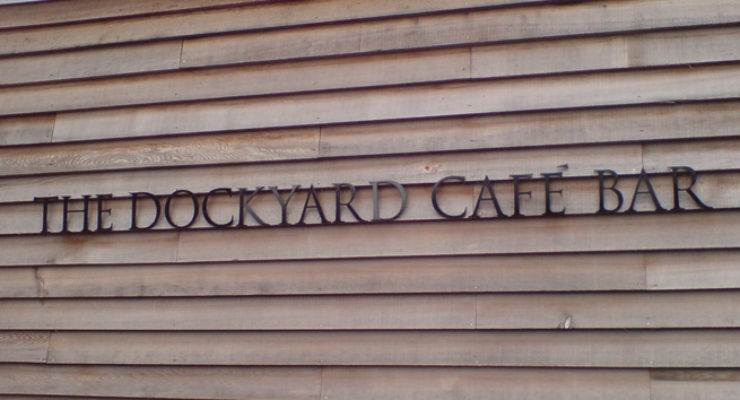 The Dockyard Café Bar, Bristol - Cut Out Aluminium Letters