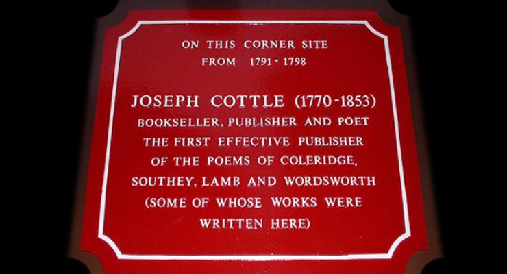 Cast Aluminium Plaque with curved corners - Joseph Cottle