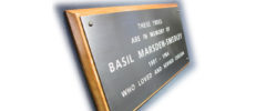 Bronze Engraved Plaques