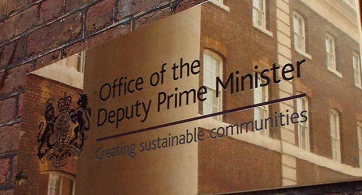 Mirror Finish Plaque for the Deputy Prime Minister