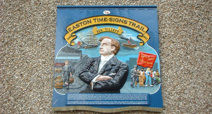 Hand Modelled, Hand Painted, 3d Aluminium Plaque - Easton Signs Trail
