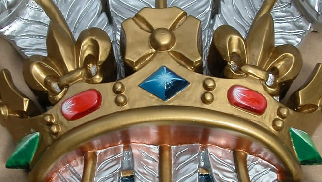 Close-up on the Crown Section of the Prince of Wales Coat of Arms