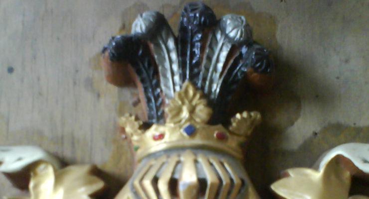 Close up of the Helmet on a Duke of Edinburgh Coat of Arms