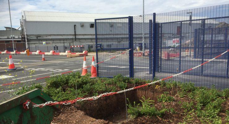 Preparation for Foundations for Aluminium Totem Monolith Sign at Airbus Filton