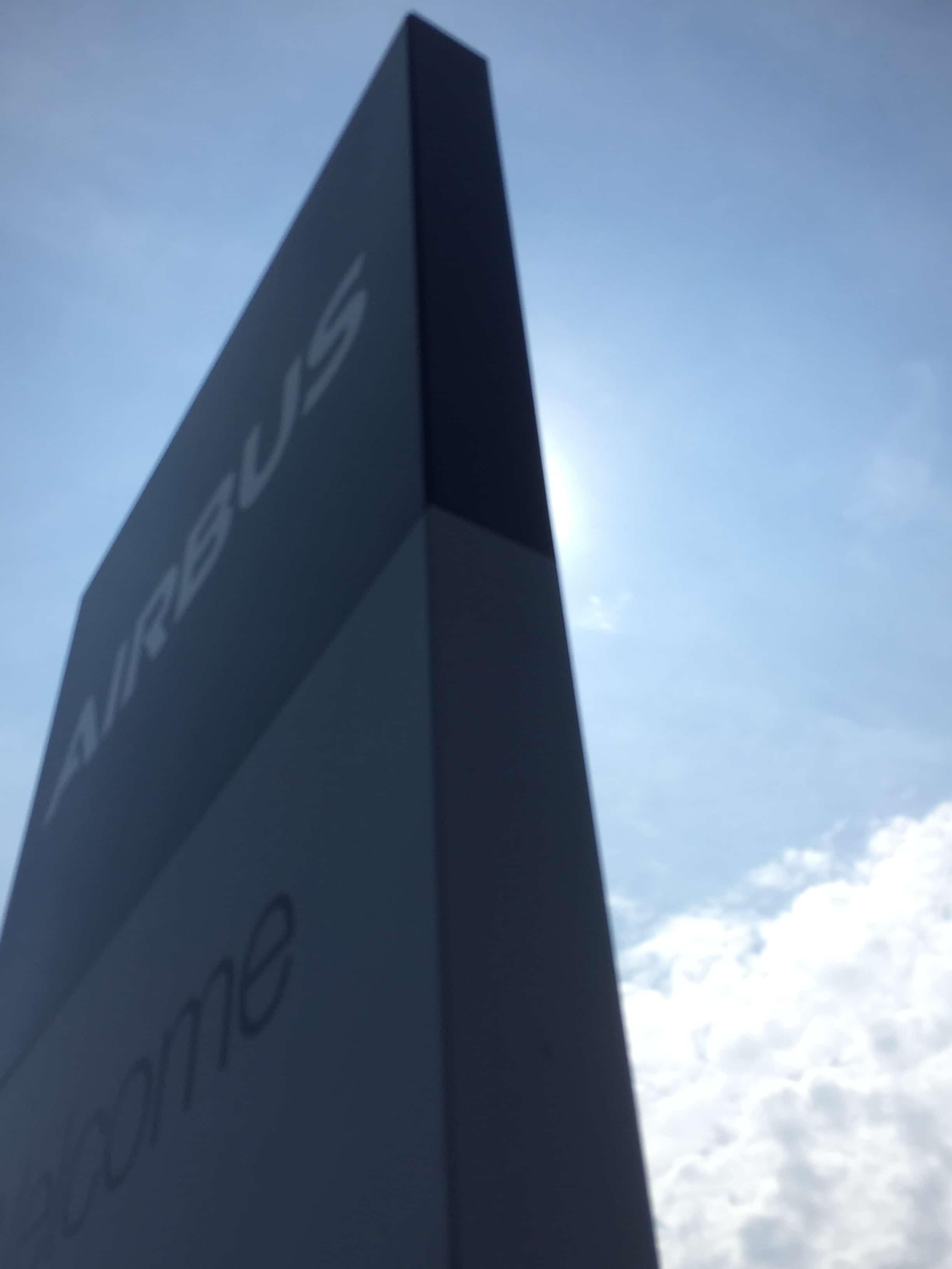 Airbus - Fabricated aluminium monolith sign