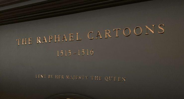 Bronze Lettering - Victoria & Albert Museum Raphael Cartoons - Lent by Her Majesty the Queen