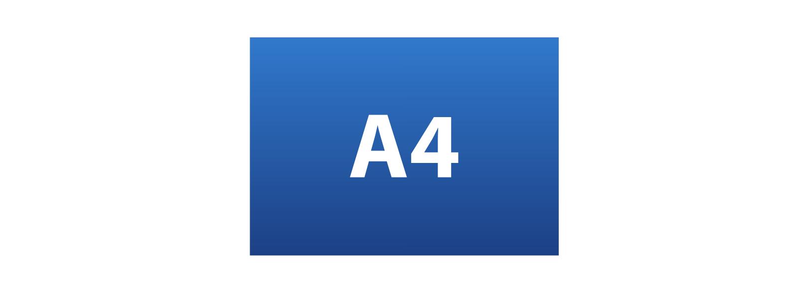 A4 (297mm x 210mm)