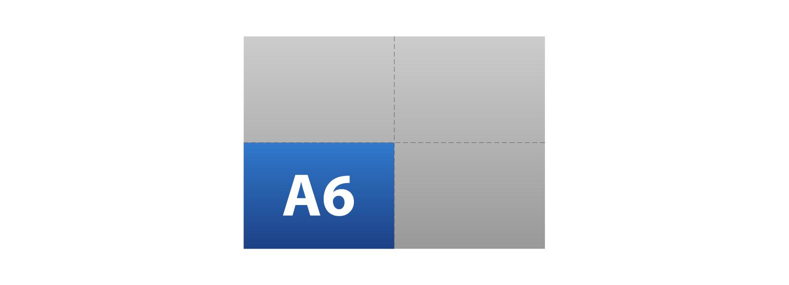 A6 (148mm x 105mm)
