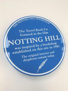 The Notting Hill Bookshop Enamelled Aluminium Plate