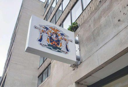 The Worshipful Company of Stationers Internally Illuminated Projecting Sign