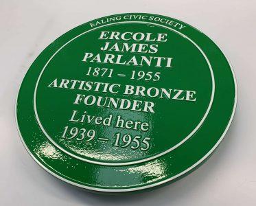 Ercole James Parlanti Green Heritage Plaque