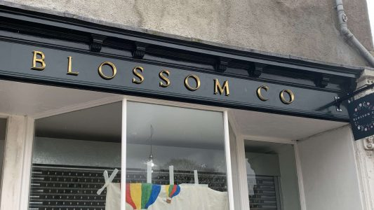Cast Resin Lettering & Projecting Sign for Blossom Co. Shop Front, Bristol