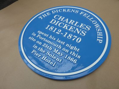 The Dickens Fellowship Cast Blue Heritage Plaque