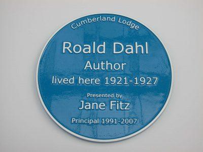 Roald Dahl Blue Historic Plaque